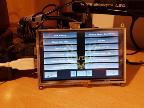 """SHAS-Radio 2 - Entwicklungsaufbau mit 5,0"""" Display"""