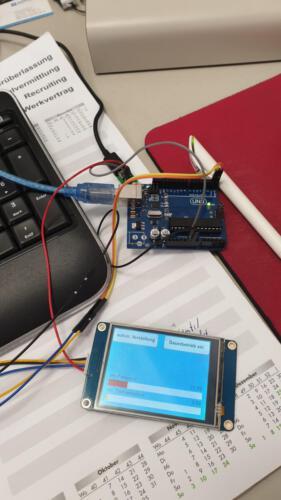 Frequenzgenerator - Programmierung des Displays