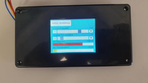 Frequenzgenerator - Vorgabe im manuellen Betrieb