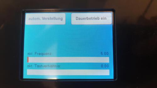Frequenzgenerator - im Prüfstandsmodus