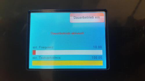 Frequenzgenerator - manueller Dauerbetrieb ein