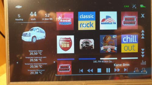 SLSS CarNet - Auswahl der Internetradiosender