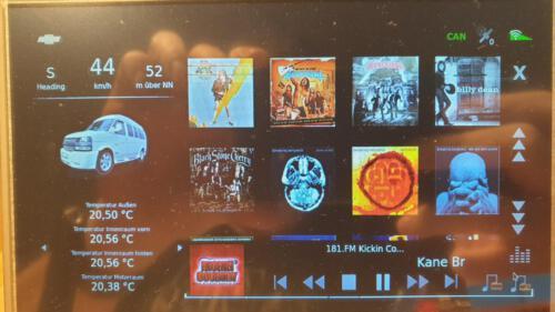 SLSS CarNet - Auswahl der MP3-Alben
