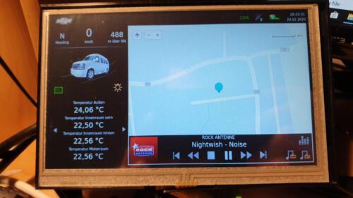 SLSS CarNet - Hauptansicht mit Buttons für Lichtsteuerung und Shutdown-Verzögerung