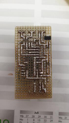 SLSS CarNet - Kompaktes Controller-Board mit 1 Digital-IOs (n-Channel-Version)  / Unterseite
