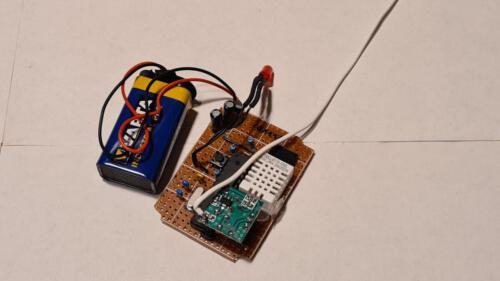 Temperatursensoren - Platine mit Bauteilbestückung
