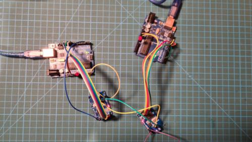 Versuchsaufbau mit 2 Micro-Controller inkl. CAN-Boards