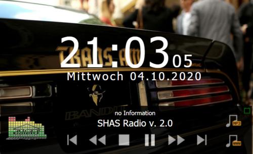 SHAS-Radio 3 - neue Oberfläche des SHAS-Radio 3