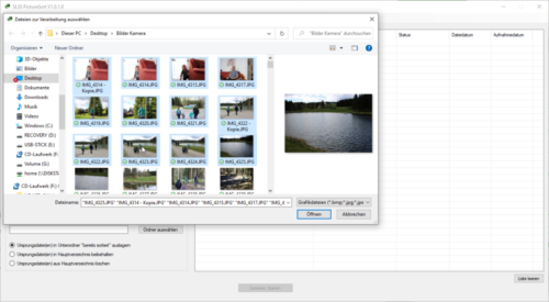 SLSS PictureSort V1.0.1.0 - Dateiauswahl